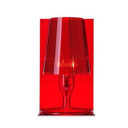 Kartell Lampada da tavolo - Take Ta 40w E14 Trasparente Rosso