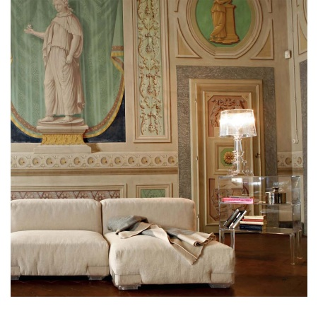 Kartell Lampada da tavolo - Bourgie Ta H.73 3x28w E14 Cristallo 9070/B4