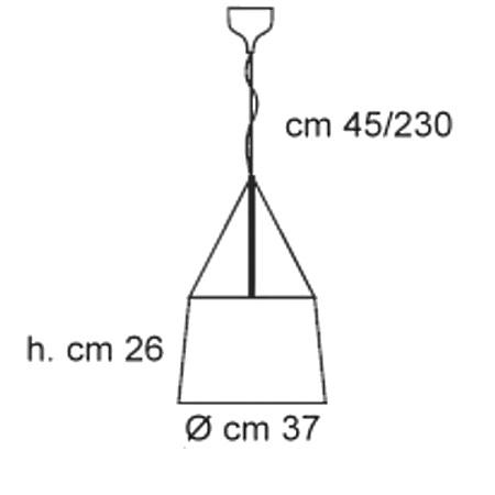 Kartell Lampada a sospensione - Ge' So D.37 100w E27 Cristallo 9080/B4