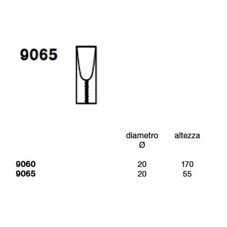 Kartell Lampada da tavolo - TOOBE TA H.55 E27 100W TRASP.ARANCIO 9065/k4
