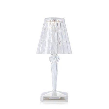 Kartell Lampada da tavolo IP54 (interno ed esterno) - Battery Lampada Ta Trasparente Cris