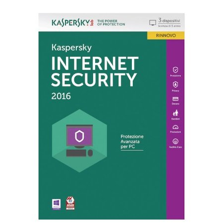 Kaspersky Rinnovo Licenza Internet Security 3 pc 1 anno - Rinnovo Internet Security 3 pc