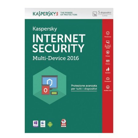 Kaspersky Licenza completa 5 Device pc 1 anno - Internet Security Multi-Device 2016
