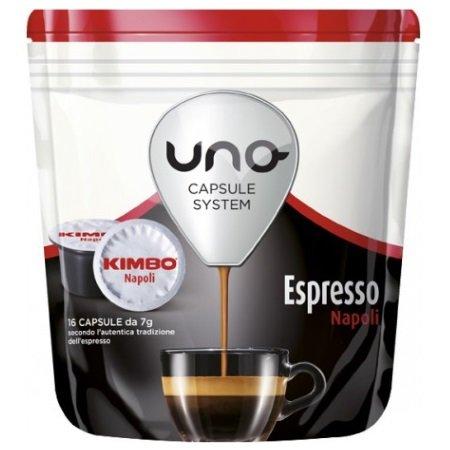 Kimbo 16 capsule di caffè tostato macinato - 16 capsule Uno system Espresso Napoli - 014511