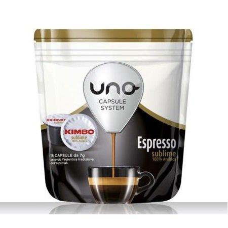 Kimbo 16 capsule di caffè tostato macinato - 16 capsule Uno system Espresso Sublime - 014513