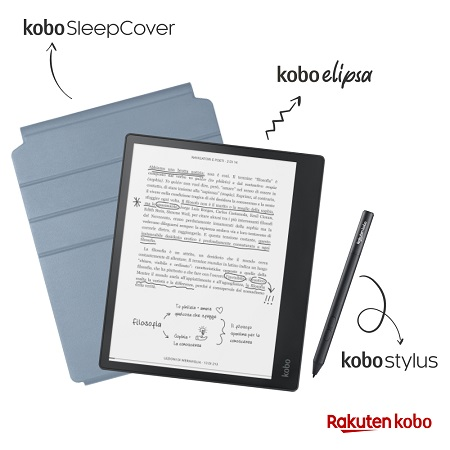 Rakuten Kobo Pacchetto Elipsa Kobo SleepCover + Kobo Stylus