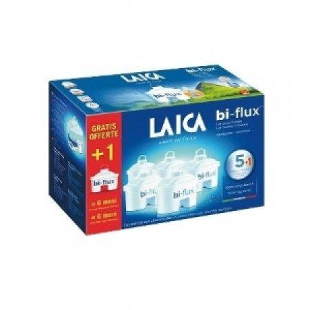 LAICA Confezione con 6 Cartucce Bi-Flux per la filtrazione dell'acqua - 6 FILTRI BI-FLUX