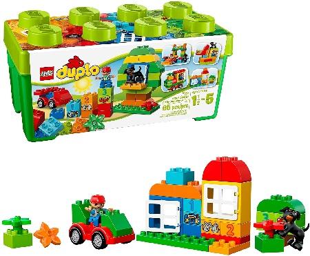 LEGO Duplo: Scatola Costruzioni LEGO DUPLO Creative Play 10572: All-in-One-Box-of-Fun - 10572