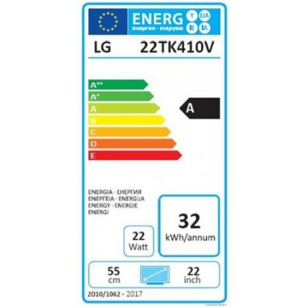 "Lg Monitor tv led flat full hd classe energetica ""A"" - 22tk410v"