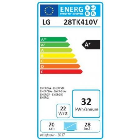 "Lg Monitor tv led flat hd classe energetica ""A+"" - 28tk410v"
