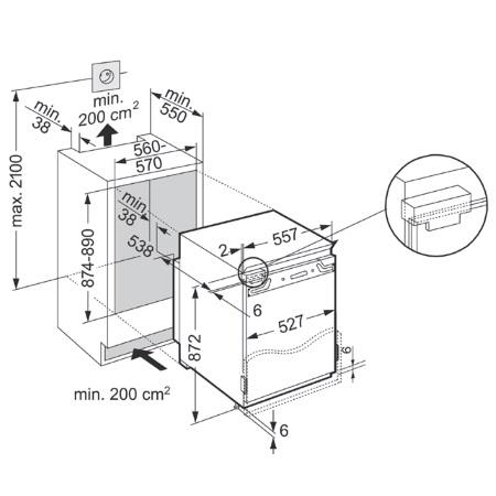Liebherr Congelatore da Incasso   integrabile con cerniere autoportanti - IGN 1654-20