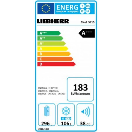 Liebherr Frigo combinato 2 porte no frost-ventilato - Cnef5715