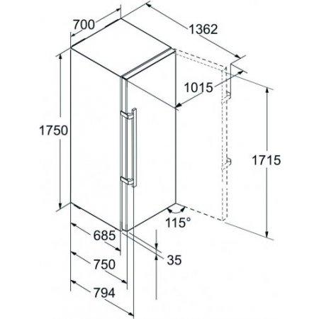 Liebherr Congelatore verticale no frost - Gnp 4655