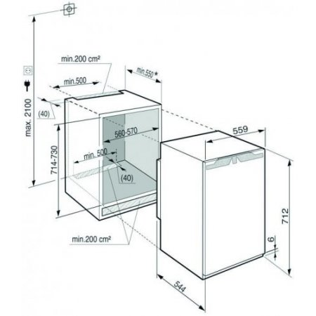 Liebherr Congelatore verticale super frost - Ig 1024