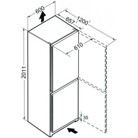 Liebherr Frigo combinato 2 porte ventilato - Cn 4813-20