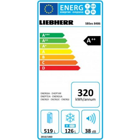 Liebherr Frigo side by side ventilato - Sbses848620001