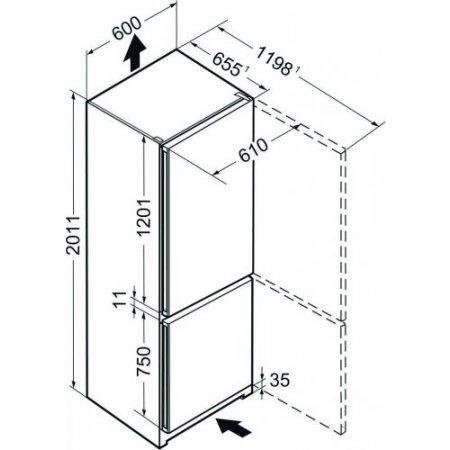 Liebherr Frigo combinato 2 porte ventilato - Cnpel481321001