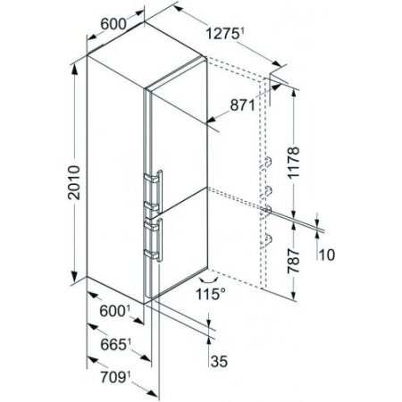 Liebherr Frigo combinato 2 porte ventilato - Cbnpes487820001