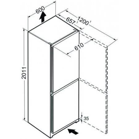 Liebherr Frigo combinato 2 porte ventilato - Cnel481320116