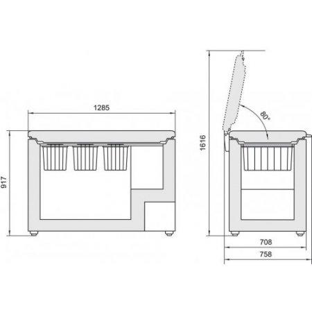Liebherr Congelatore orizzontale stop frost - Gtp315621001