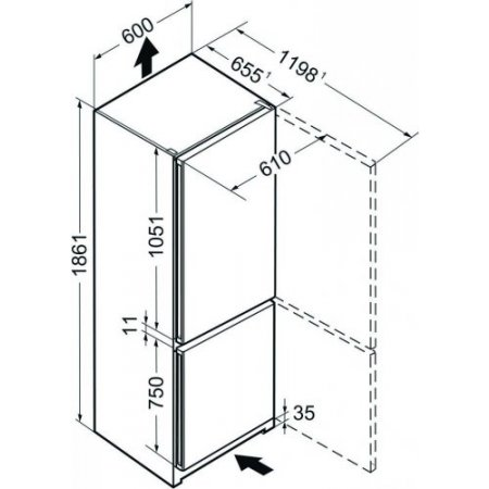 Liebherr Frigo combinato 2 porte ventilato - Cnel 4313-20