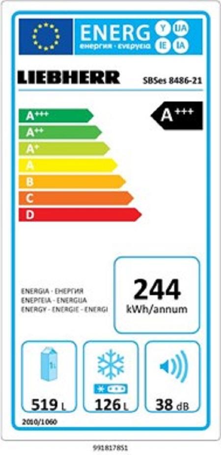 Liebherr Liebherr SBSes 8486 Premium Plus frigorifero side-by-side - Sbses  8486-21