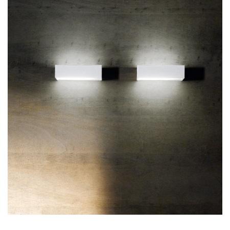 Linea Light Lampada da parete - Box Rettangolare Bianco 18w 6723