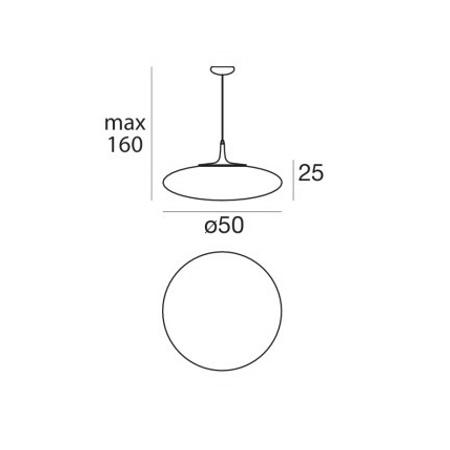 Linea Light Lampada a sospensione - Squash 7627