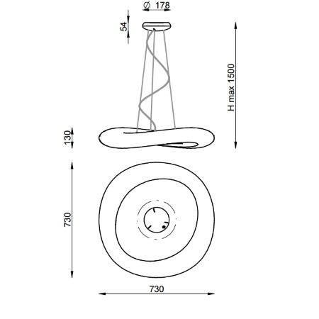 Linea Light Lampada a sospensione 32W  dimmerabile DALI - Mr. Magoo 8007