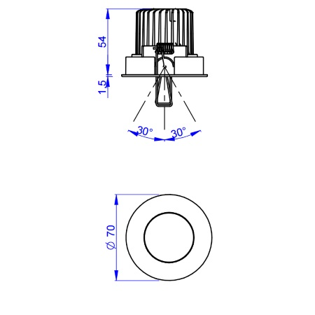 Linea Light Faretto da incasso - COB44 Kit