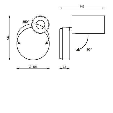 Linea Light Faretto 11W  LED - Bart 8466