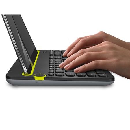 Logitech Tastiera Wireless Bluetooth per Smartphone e Tablet - Keyboard Multi-device K480