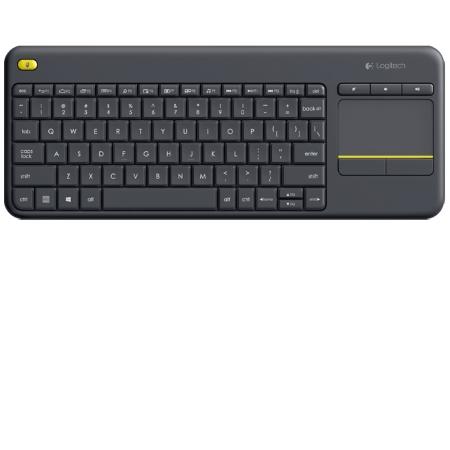 Logitech Tastiera wireless con TouchPad integrato - K400 Plus Black 920-007135
