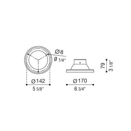 Lombardo Accessorio per palo diam.60mm - Base di fissaggio Nera - Lb11812