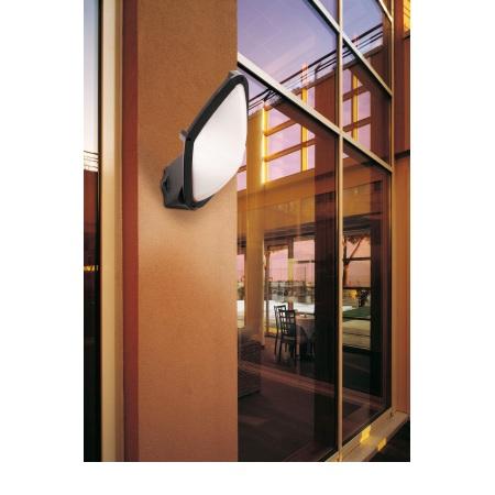 Lombardo Lampada da parete o da soffitto - Diva Ovale 300 Nera E27 1x60w