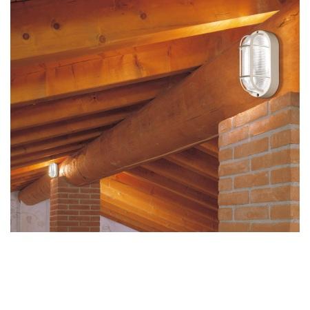 Lombardo Lampada da parete o soffitto - Tartaruga Ovale 200 Bianca E27 - LB44121