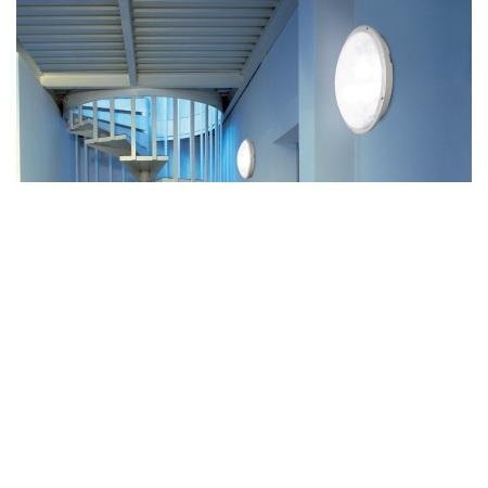 Lombardo Lampada da parete o da soffitto - Mito Tonda 300 Bianca E27 1x75w