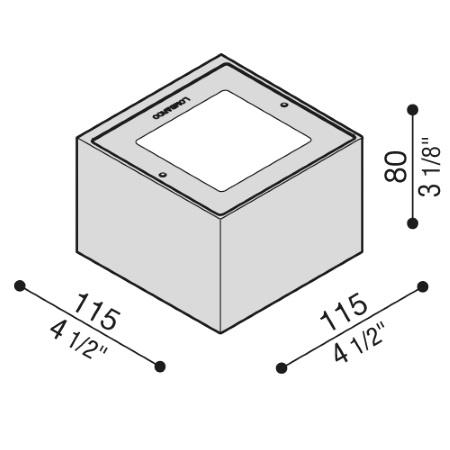 Lombardo Lampada da parete - Trend Up&Down 110 Grigio High Tech LED