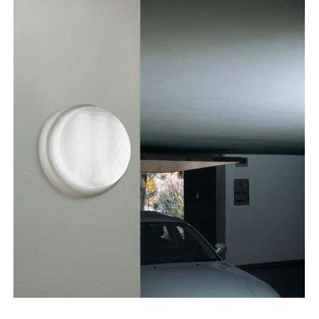 Lombardo Lampada da soffitto o da parete - Twister Tonda 240 Bianca E27 1x100w