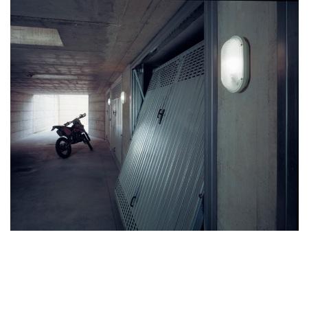 Lombardo Lampada da parete - Luce Ovale 260 Bianca E27 1x75w