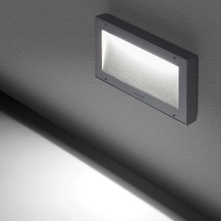 Lombardo Lampada da parete - KOI 220 9W 4K GRIGIO - Ll121009n