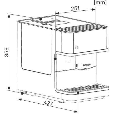 Miele Schiuma cremosa per bevande a base di caffè: Cappuccinatore - CM 6350 OBSW
