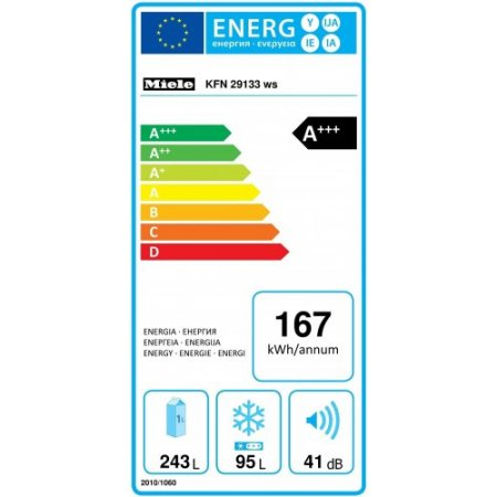 Miele Illuminazione ottimale e senza manutenzione del vano interno a LED - Kfn 29133 D Ws