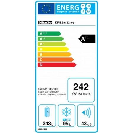 Miele Illuminazione ottimale e senza manutenzione del vano interno a LED - Kfn 29132 D Ws