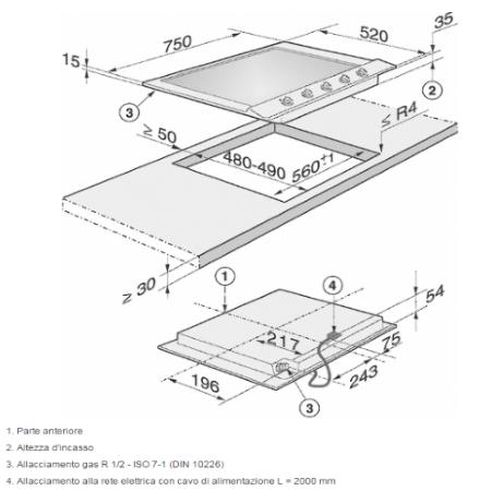 Miele Comandi semplici, manopole con accensione integrata - KM 2033 G