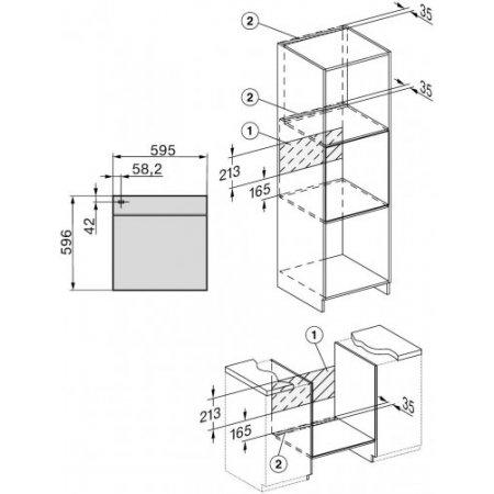Miele Dispaly a 7 segmenti con manopola push/pull – EasyControl - H 2265-1 Bp