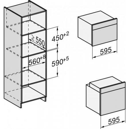 Miele Dispaly a 7 segmenti con manopola push/pull – EasyControl - H 2760 B Edst/clst