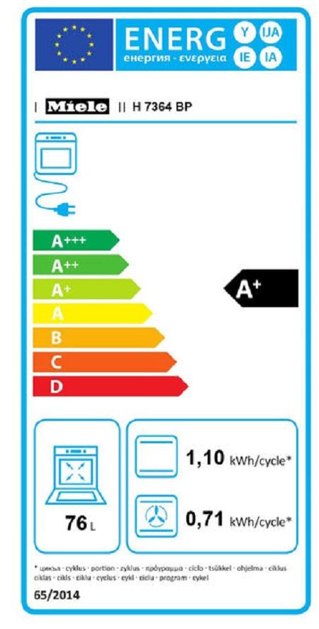 Miele Display con testi in chiaro e comandi a sensore – DirectSensor - H 7364 Bp