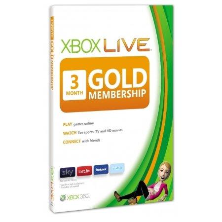Microsoft - Xbox Live 3 Mesi Gold Card