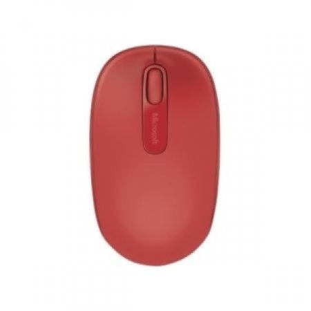 MICROSOFT Wireless Mobile Mouse 1850, RF Wireless+USB, Travel, PC/PC portatile, Rosso, Ambidestro, USB - WIRELESS MOBILE 1850 ROSSO